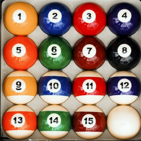 Case of 6 - Traditional Style Pool Table Billiard Ball Sets